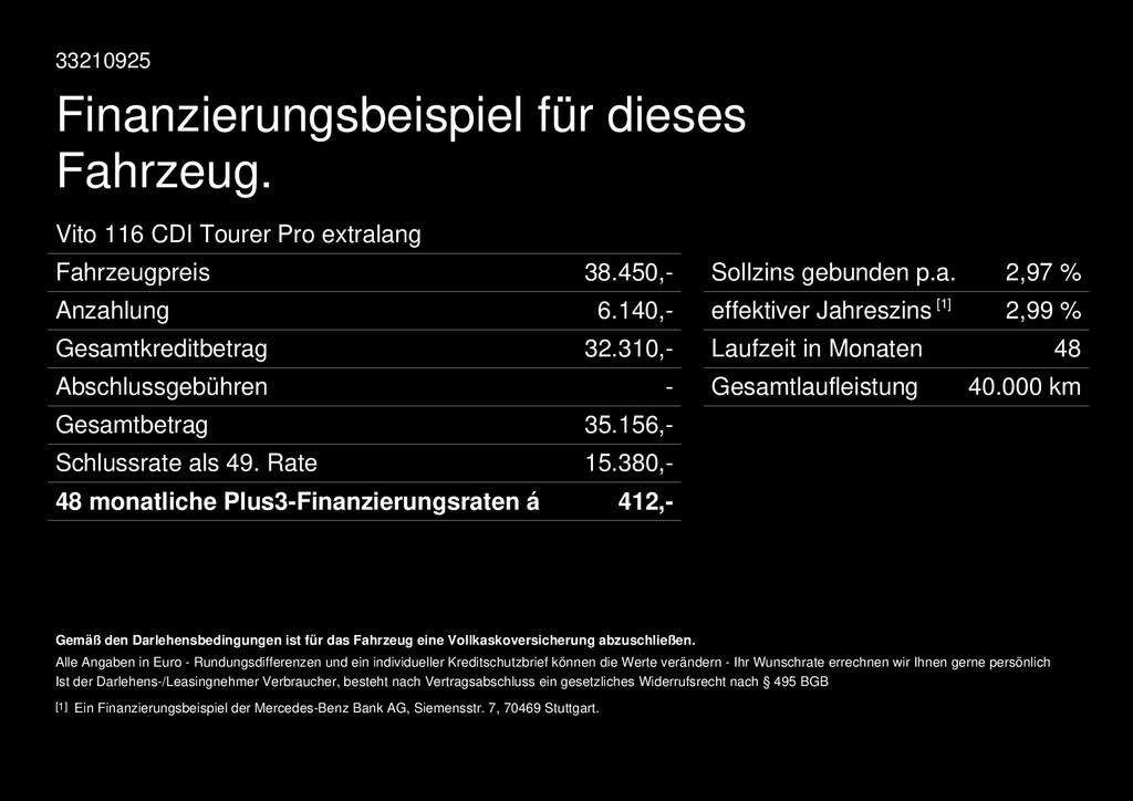 Mercedes-Benz Vito 116 Tourer Pro extralang
