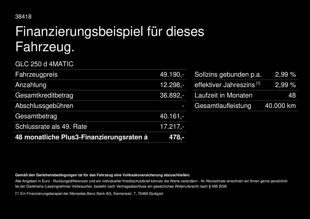 Mercedes-Benz GLC 250 d AMG Line Command PTC
