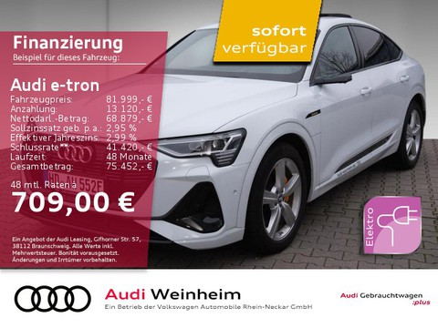 Audi e-tron Sportback 55 quattro S line Display