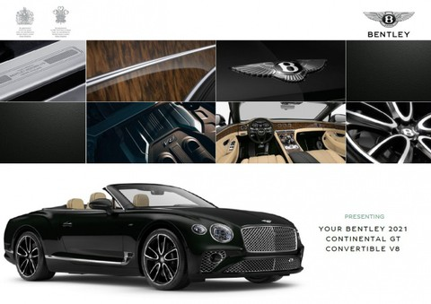 Bentley New Continental GTC V8 ELEGANT MULLINER MAGNOL