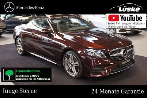 Mercedes-Benz E 400 d Cabrio AMG Line rubellitrot Ulme °