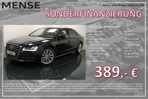Audi A8 3.0 TDI Lang Volllede
