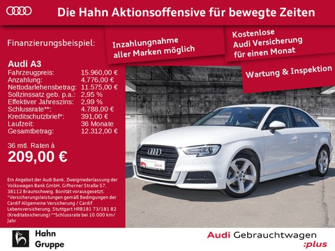 Audi A3 2.0 TDI Limousine Sport Einpark