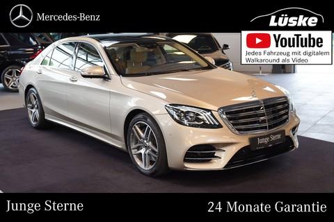 Mercedes-Benz S 560 AMG Line lang seidenbeige