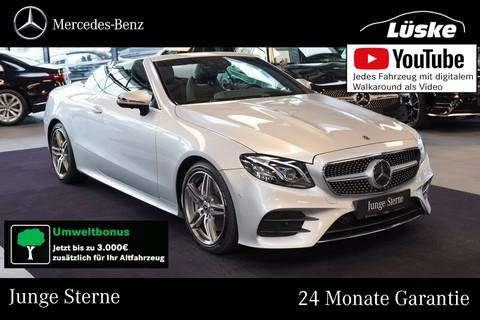 Mercedes-Benz E 350 d Cabrio AMG Line Glasfaser Assistenz °