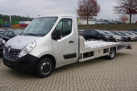 Renault Master 3.5 L4 Autotransporter dCi 163PS t AluLiner Zwillings-Hinterachse 4-fach Bereifung Tijhof Aufbau